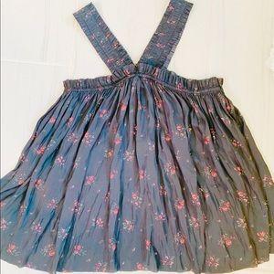 Ulla Johnson black floral straps birdie Blouse 6